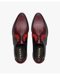 Prada - Multicolor Calf Leather Laced Shoes for Men - Lyst