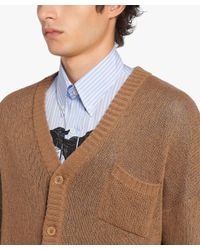 Prada - Brown Two-ply Cashmere for Men - Lyst
