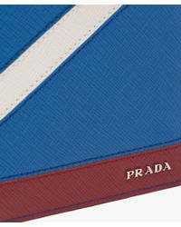 Prada - Blue Saffiano Leather Wallet for Men - Lyst