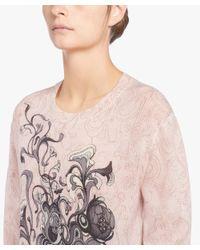 Prada - Pink Printed Cashmere Sweater - Lyst