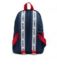 Tommy Hilfiger Blue Tj Logo Tape Mini Backpack