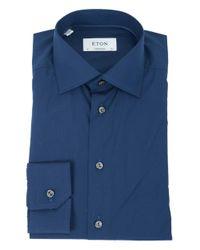 Eton of Sweden Black Contempory Fit Cotton Shirt for men