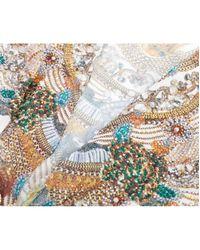 Forever Unique - Metallic Printed Jewel Detail Kaftan - Lyst
