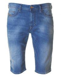 DIESEL | Blue Thashort Denim Shorts for Men | Lyst