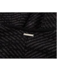 Michael Kors - Black Twill Jaquard Blanket Cape - Lyst