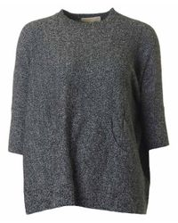 Michael Kors | Gray Removable Cowl Neck Poncho | Lyst