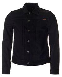 Nudie Jeans   Black Sonny Denim Jacket for Men   Lyst