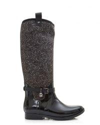 Michael Kors | Black Charm Stretch Neoprene Rain Boots | Lyst