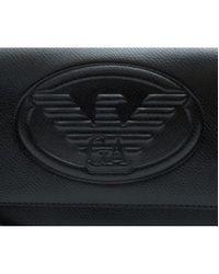 Emporio Armani Black Eagle Logo Cross Body Bag