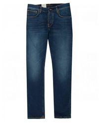 Nudie Jeans Blue Grim Tim Slim Fit Jeans for men
