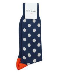 Paul Smith | Blue Bright Spot Socks for Men | Lyst