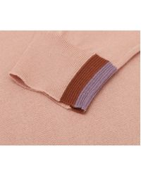 Paul Smith - Pink Side Stripe Crew Neck Cotton Knit for Men - Lyst