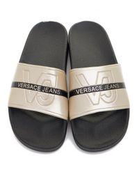 Versace Jeans Black Sliders for men