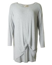 A Postcard From Brighton Gray Rouched Front Top
