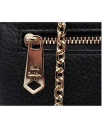 Paul Smith Black Leather Chain Toggle Crossbody Bag