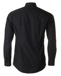 Eton of Sweden | Black Slim Fit Plain Shirt for Men | Lyst