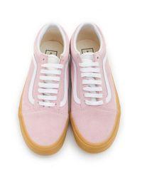 Vans Pink Old Skool Suede Light Gum Trainers