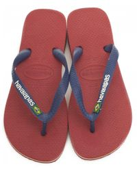 Havaianas Red Brasil Logo Flip Flops for men