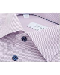 Eton of Sweden - Purple Fine Bengal Stripe Cotton Shirt for Men - Lyst
