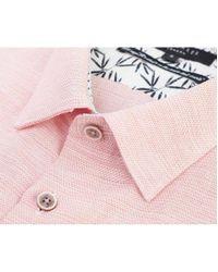 Ted Baker Pink Peeze Short Sleeved Oxford Shirt for men