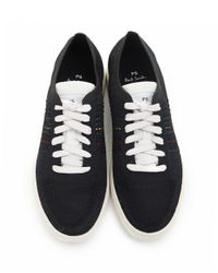 Paul Smith Black Doyle Knit Mesh Trainers for men
