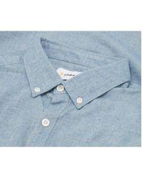Farah Blue Steen Oxford Shirt for men