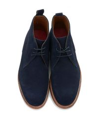 GRENSON - Blue Marcus Suede Chukka Boot for Men - Lyst