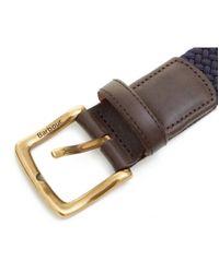 Barbour Blue Classic Webbing Belt for men