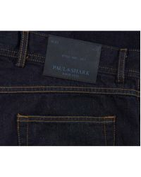 Paul And Shark Blue Regular Tapered Fit Jeans for men