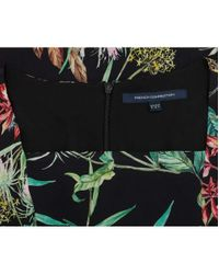 French Connection - Black Bluhm Botero Floral Festival Dress - Lyst
