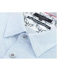 Ted Baker Blue Peeze Short Sleeved Oxford Shirt for men