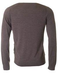 Michael Kors - Brown Merino V Neck Knit for Men - Lyst