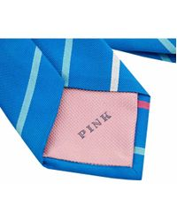 Thomas Pink | Blue Rawling Striped Silk Tie for Men | Lyst