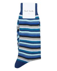 Paul Smith - Blue The Odd Striped Socks for Men - Lyst