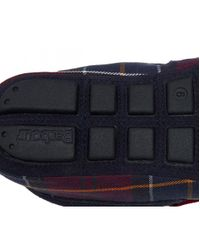 Barbour Multicolor Monty Mens Full Moccasin Toe Warm Lined Slippers for men