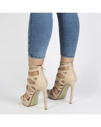 Public Desire - Natural Gala High Heels In Nude - Lyst