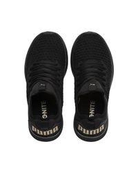 PUMA Black Ignite Flash Varsity Women's Running Shoes
