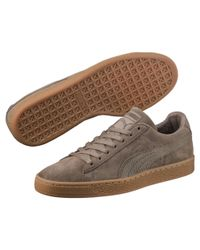PUMA - Brown Suede Classic Natural Warmth Sneakers for Men - Lyst