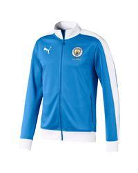 Track jacket T7 Manchester City 125 Year Anniversary di PUMA in White da Uomo