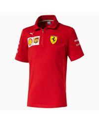PUMA Red Ferrari Jungen Team Polo