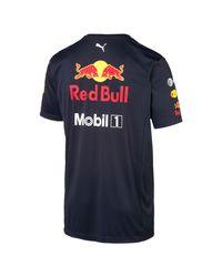 T-Shirt Red Bull Racing Team di PUMA in Black