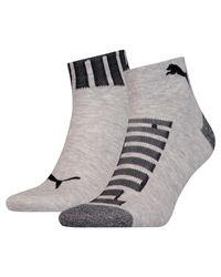 PUMA Logo-Bund Quarter Socken 2er Pack in Multicolor für Herren