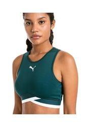 PUMA Green Soft Sports Crop Top