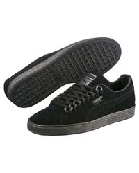 PUMA Black Suede Classic X-chain Sneakers for men
