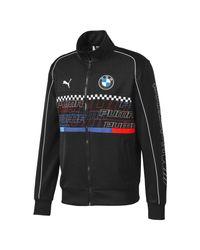 Track jacket BMW M Motorsport di PUMA in Black da Uomo