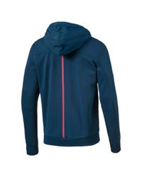 PUMA - Blue Ferrari Lifestyle Hooded Sweat Jacket for Men - Lyst