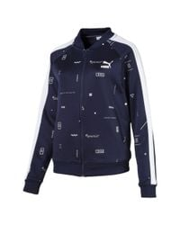 PUMA Blue Classics T7 Track Jacket Aop