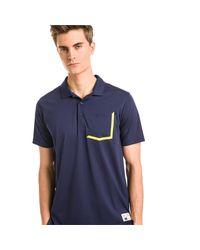 PUMA Faraday Golf Polo in het Blue voor heren