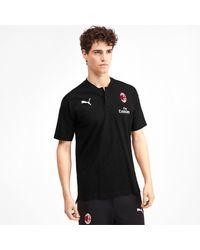 PUMA Ac Milan Casuals Poloshirt in het Black voor heren