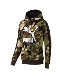PUMA Evolution Wild Pack AOP Fleece Hoodie in Green für Herren